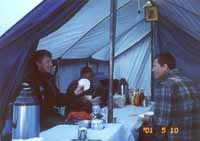 Dinner tent in BC