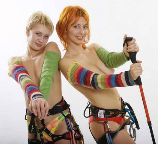 Сексуальная альпинистка